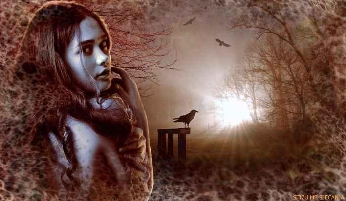 Slomljena i uplakana stala je na most, sklopila oči, zagrlila stomak i skočila u nabujalu rijeku.