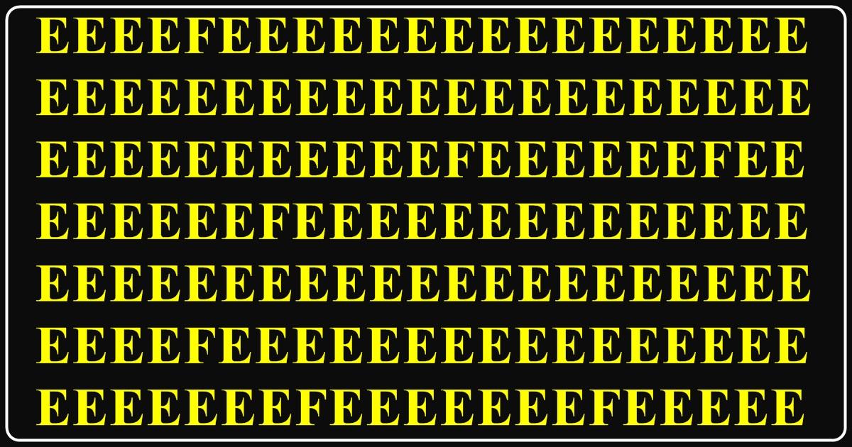 Mnogi će POGREŠITI! Koliko vi slova F vidite na slici?