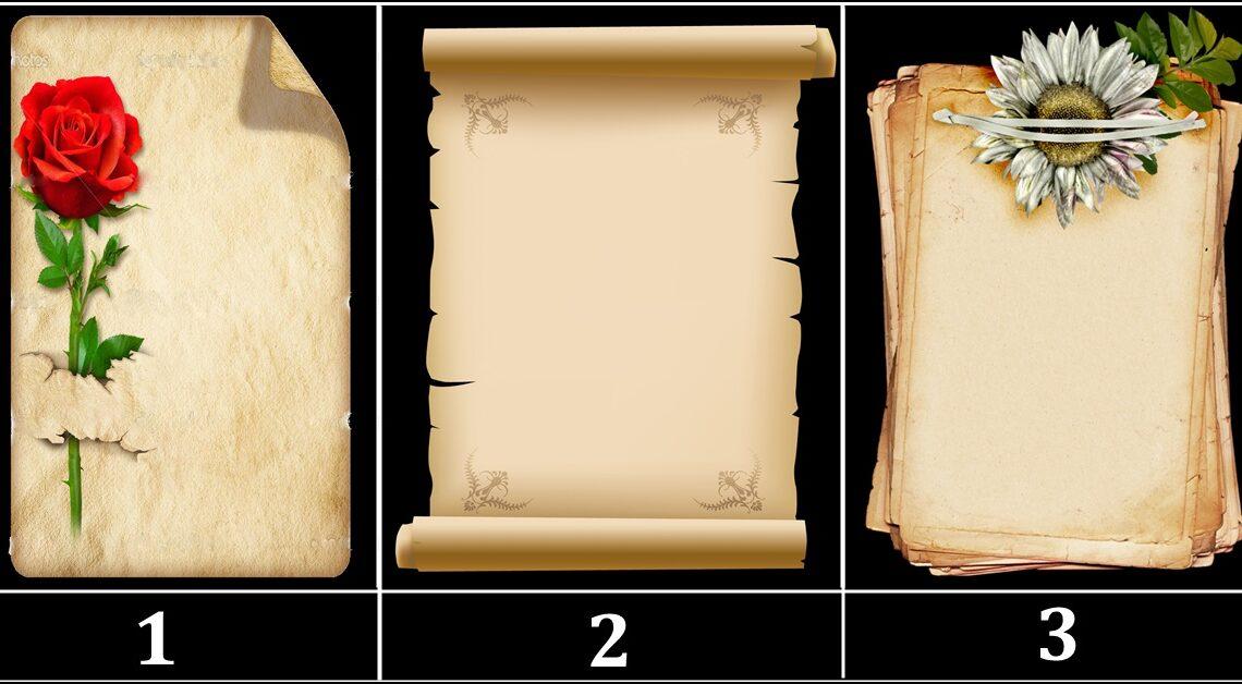 Na starom papiru je ZAPISANA tvoja SUDBINA!-Biraj pazljivo jer jedan ti donosi LOSE VIJESTI!